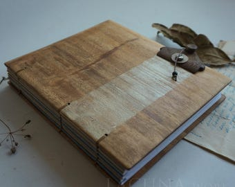Distressed old wood Sketch book Blank journal
