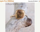40% Off 14k Gold and Bronze Small Rock Ring | Statement Ring | Stacking Ring | Nature Inspired