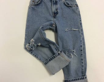 Kids Raw Destroyed Levi  Jeans 7