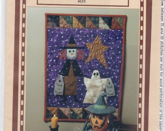 Halloween Trick Or Treat Wall Quilt Witch Ghost Uncut Sewing Pattern Free US Shipping