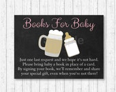 Baby Is Brewing Book Request Cards / Beer Baby Shower / BBQ Shower / BaByQ / Pink / Baby Girl / Printable INSTANT DOWNLOAD A155