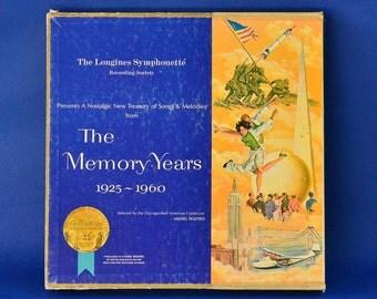 Longines Symphonette - The Memory Years 1925-1960 - Six LP Box Set c. 1964 - Metro-Goldwyn-Mayer Custom Records Division - 33 1/3 RPM LP Set
