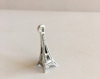 Eiffel Tower Charm, Sterling Silver Charms