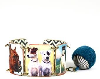 Shrink Plastic Dog Bracelet Boxer Dog Bracelet Jack Russell Dog Bracelet Terrier Dog Bracelet Vintage Dog Bracelet Mastiff Dog Bracelet