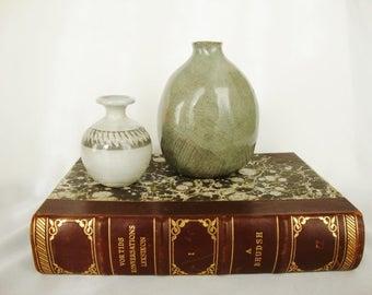 vintage pottery vases gray soneware bud vase collection