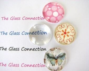 20mm Glass Domes Clear Cabochons 20 Pieces 2cm Pendants Blanks Tiles