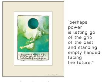 new beginnings, empowerment, future. letting go