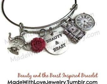 Beauty and the Beast Inspired Expandable Bangle Bracelet