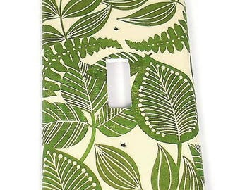 Single Toggle Switch Plate Light Switch Cover  in Rainforest   (206S)
