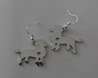 FRENCH POODLE DOG Earrings - Pet