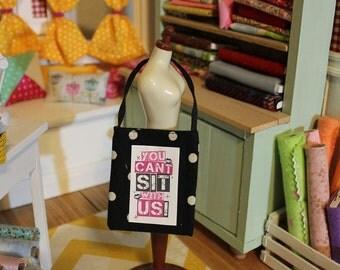 Tiny tote bag for Blythe, Pullip, Monster High, similar doll