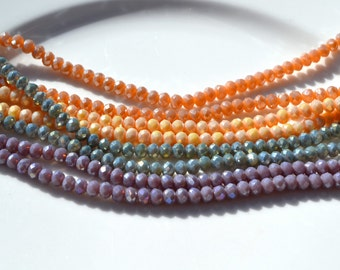 Your choice of 4x3mm Luster Crystal Rondelle Beads  25
