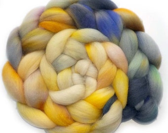 BFL Roving Blue Face Leicester Combed Top Wool, Partly Sunny, 5.0 oz.