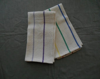 Pair of 100% cotton kitchen towels, hand woven