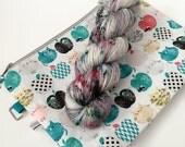 CAPPLES with Medium Project Bag - Sparkle Sock Yarn Fingering - Ready to Ship - Vivid Yarn Studio