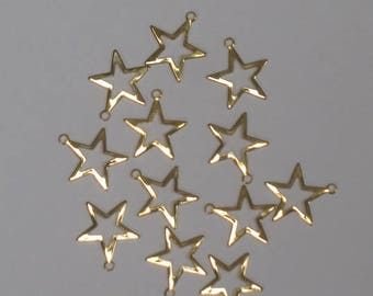 """Gold Star Charm 5/8"""" for Art, Craft, and Jewelry Making"""