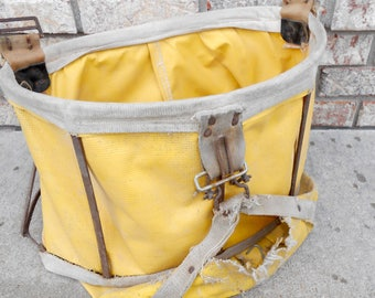 Vintage Fruit Picking Bag Yellow Canvas Fruit Picking Bag