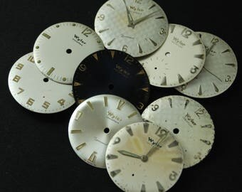 Vintage Antique Watch Dials Steampunk  Faces Parts Altered Art Industrial O 84