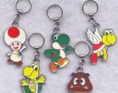 Black Friday SALE Nintendo Stitch Markers BIG Rings Yoshi Koopa Troopa Goomba Enameled Set of 5/SM206