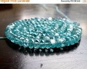 Final 51% off Sale Apatite Gemstone Teal Faceted Rondelle 4mm Full Strand 140 beads