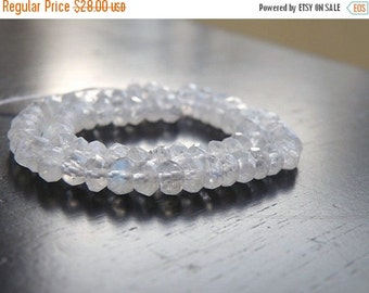Love You 51% off Sale Moonstone Gemstone Rondelle AAA Rainbow White Faceted Rondelle 5mm Full Strand 100 beads
