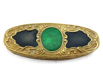 Compact Perfume Solid -  Green Enameled Perfume Solid Concentrate Charles Revson Cerissa Scent