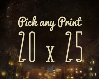 Pick  20X25 archival print -- Choose your own enormous Meluseena print, any picture can be supersized