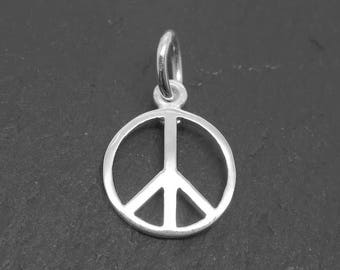 Sterling Silver Peace Charm 10mm (CG9249)