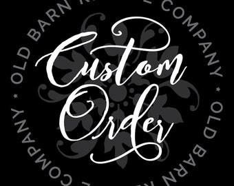 Custom order for sbair1020 - Custom Letter Wall Decals