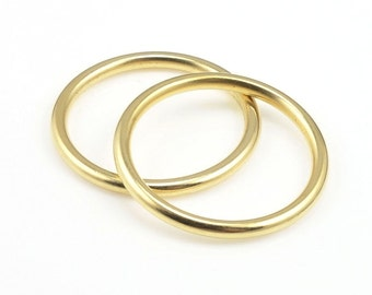 """25mm Solid Seamless Rings Antique Gold Circle Pendant Gold Charm Small Open Frame Hoop Nunn Design for Modern Simple Gold Jewelry 1"""" Ring"""