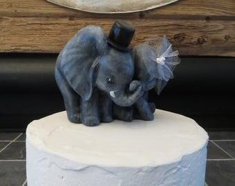 Sweet Elephant Wedding Cake Topper