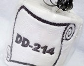 DD-214 Military Discharge Papers Embroidered Toilet Paper Gag Gift Office Soldier Active Duty Ceremony Army Navy Air Force Marine Retirement