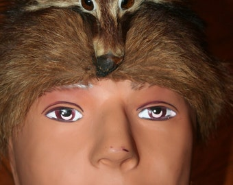 Vintage Raccoon Cap - Davey Crockett Hat