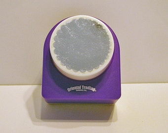 Circular Scallop Punch, For Scrapbooking, Decorations, Cards, Crafts