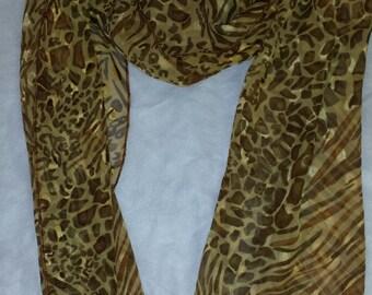 shades of brown animal print scarf