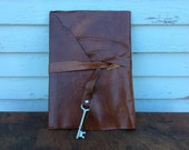 Brown leather Baby Journal by Binding Bee Indianapolis, Indiana