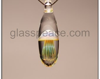 Glass Jellyfish Pendant perfect gift Glass Peace lampwork jewelry (6447)