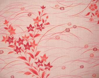 Vintage yukata S618, pink cotton