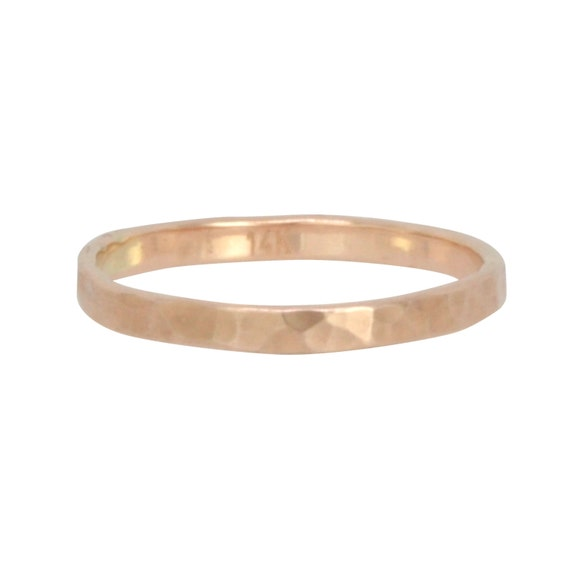 Will You Accept this Rose?  2mm solid 14K Rose Gold Ring, handmade by Sea Babe Jewelry