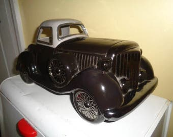 RETRO 1920's style Expressive Designs Roadster Coup Car Cookie Jar