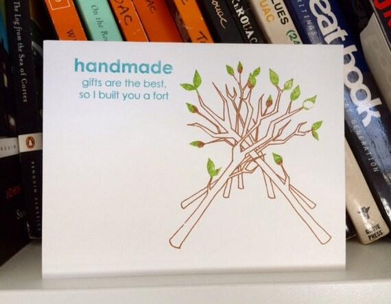 Handmade Fort - Birthday Card - Funny Birthday Card