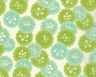 Scrumptious 1/2 yard Moda Bonnie and Camille Dainty in Aqua and Lime Out Of Print Hard to Find