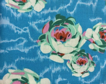 Fabric Destash Amy Butler Hapi Flowing Buds in Turquoise