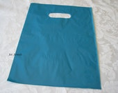 100 Gift Bags, Blue Plastic Bags, Merchandise Bags, Shopping Bags, Retail Bags, Party Favor Bags, Bags with Handles 9x12