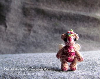 3.5 cm Hand Craft Miniature Thread Crochet TEDDY BEAR,Tiny Teddy Bear Crochet,Hand Made Amigurumi BEAR,Thread Crochet Artist Offer,Gifts