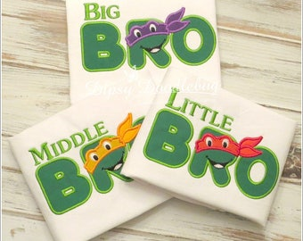 Big Bro Shirt - Ninja Bro Shirt - Ninja Brother Shirt - Little Bro Shirt - Middle Bro Shirt - Brothers Shirt - Birth Announcement Shirt