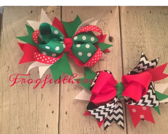CHRISTMAS BOWS With Clip-Choice of Two