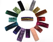 SALE 3 Glitter Snap Clips | glitter clips | glitter snap clip | glitter ribbon | clips lined with glitter ribbon