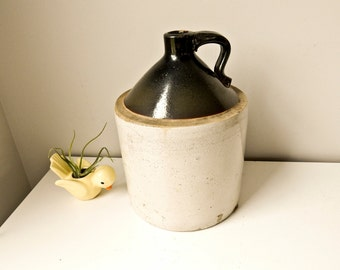 Stoneware Crock, Whiskey Jug, Vintage Jug, Crock Jug, Salt Glaze Jug