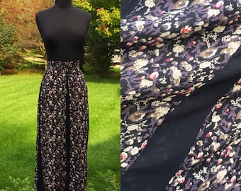 Vintage 70s Bohemian Hippie Gypsy Petal Skirt / Draw String Waist / One Size Fit All / Small Medium Large